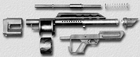 Pancor Jackhammer automatic shotgun takedown