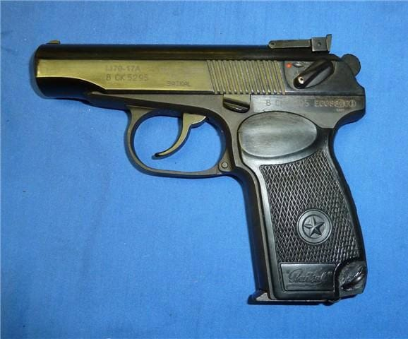Makarov semi-automatic pistol.
