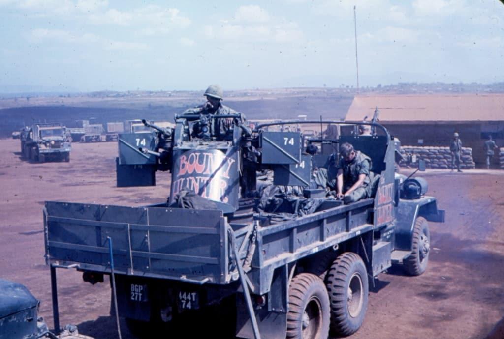 M45 on gun truck during Vietnam war.