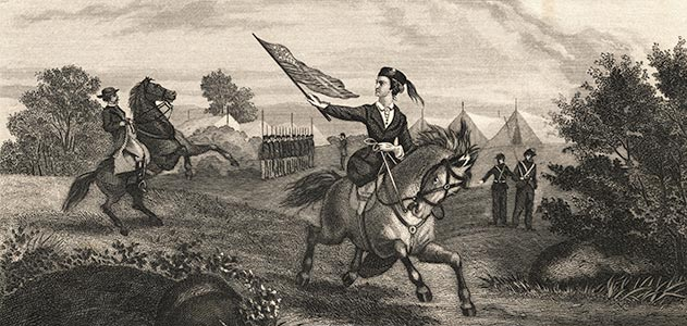 Sarah Edmonds Seelye, one of the best-documented female soldiers, served two years in the Union army as Franklin Thompson and received a military pension 25 years after the war ended.
