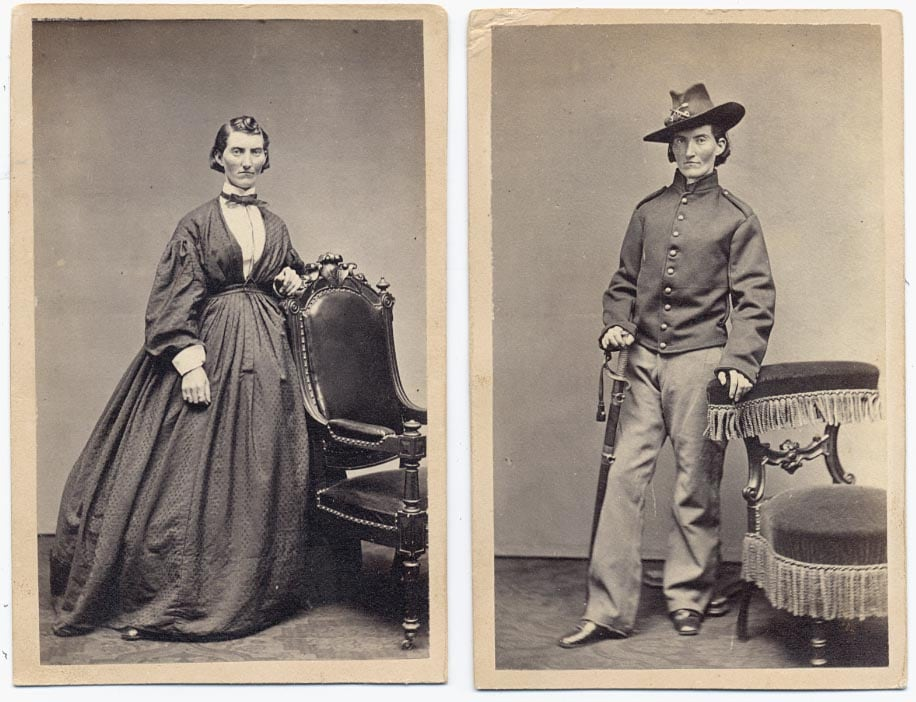 To pass as a man, Union soldier Frances Louisa Clayton, who enlisted with her husband in 1861, took up gambling, cigar-smoking, and swearing.