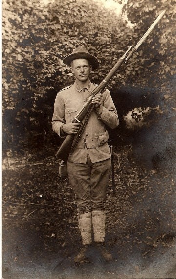 1913 Soldier with Springfield rifle.