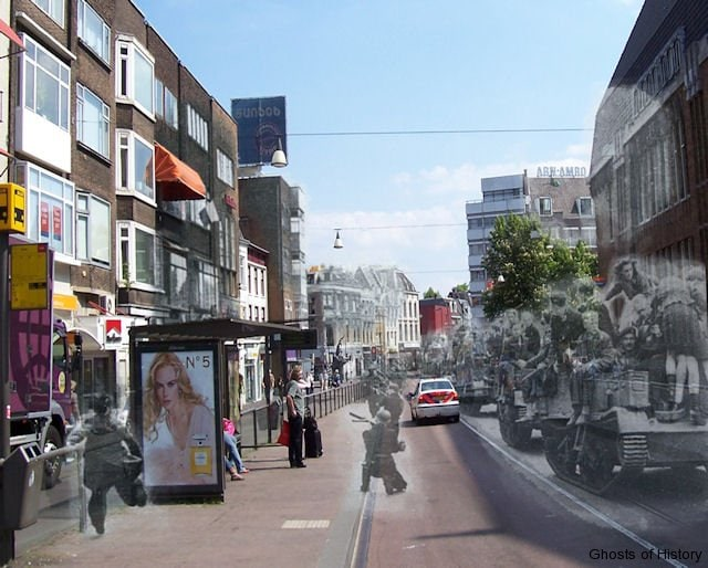 Two days after the official surrender of the German forces in the Netherlands on may 5th 1945, shots were fired at civilians and British troops on Bren Carriers as they celebrated the liberation of the city. Members of the Dutch resistance and Dutch Internal forces returned fire with Stenguns.