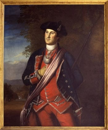 Colonel George Washington of the Virginia Regiment.