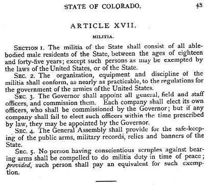 Colorado-Constitution