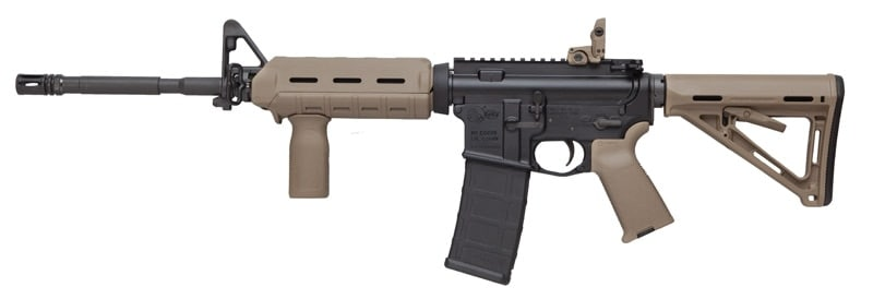 """A Colt carbine paired up with Mapgul Original Equipment. It was introduced last year with the catchy name """"LE6920MP-FDE""""."""