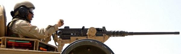 M2HB on armor mount