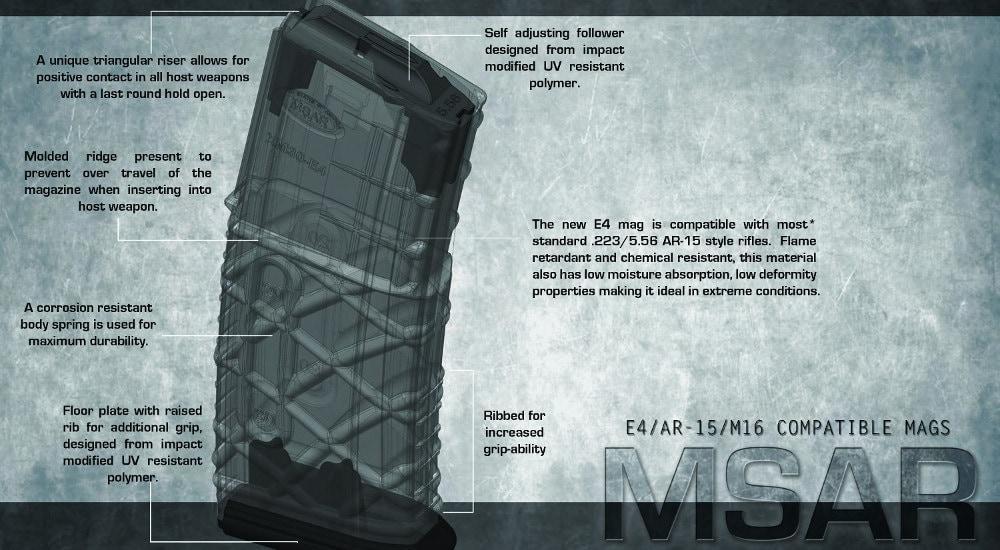 MSAR E4 Magazines