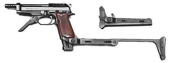 Beretta 93r with buttstock