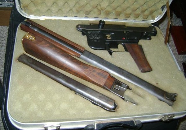 Fox carbine broken down in factory case