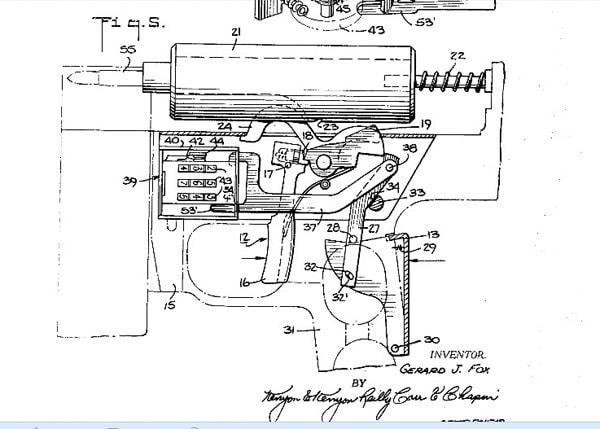 Fox carbine patent drawings