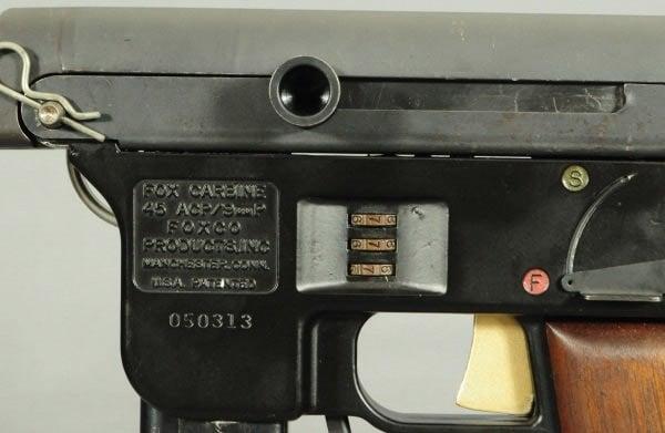 Fox carbine's patented combination lock