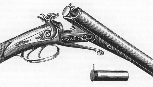 Lefaucheux pinfire, breechloading shotgun