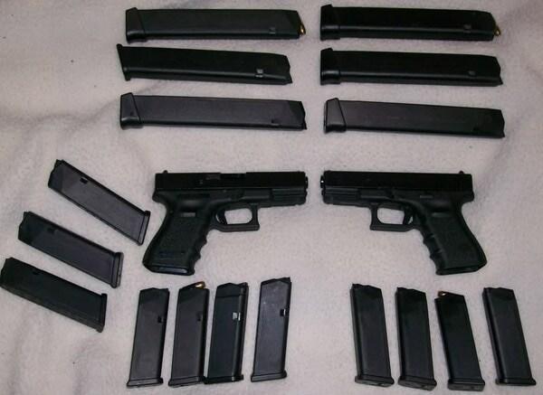 Pair of Glocks.
