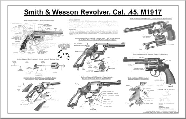 Smith & Wesson M1917 diagram