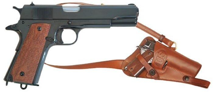 cimarron 1911 with leather holster