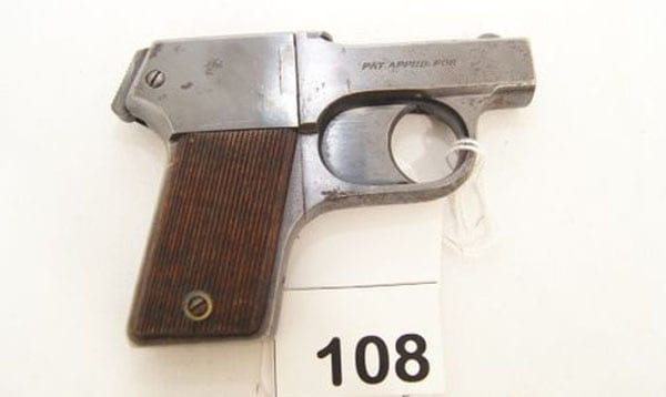mossberg Brownie pistol up for auction