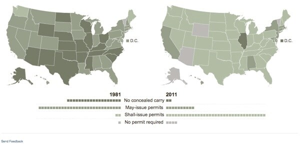 Concealed Carry Expansion by state infographic