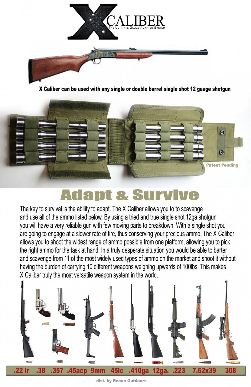x caliber gauge adapter magazine ad
