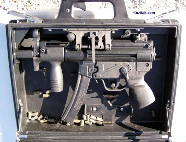 HK operational briefcase with MP5