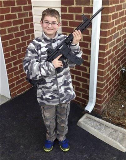 Facebook Pic of NJ Boy Holding Rifle