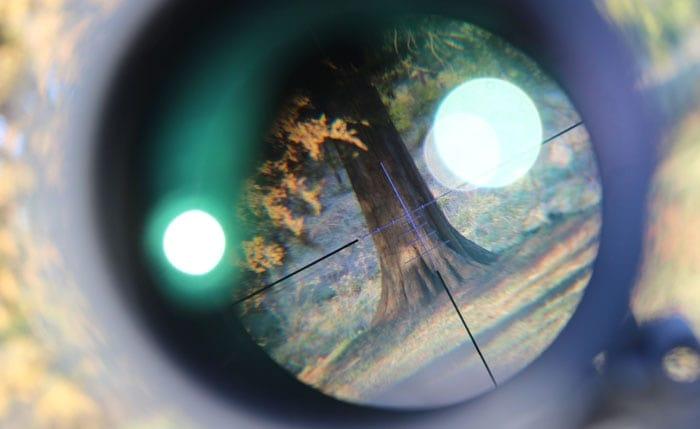 crosshairs view of konuspro scope