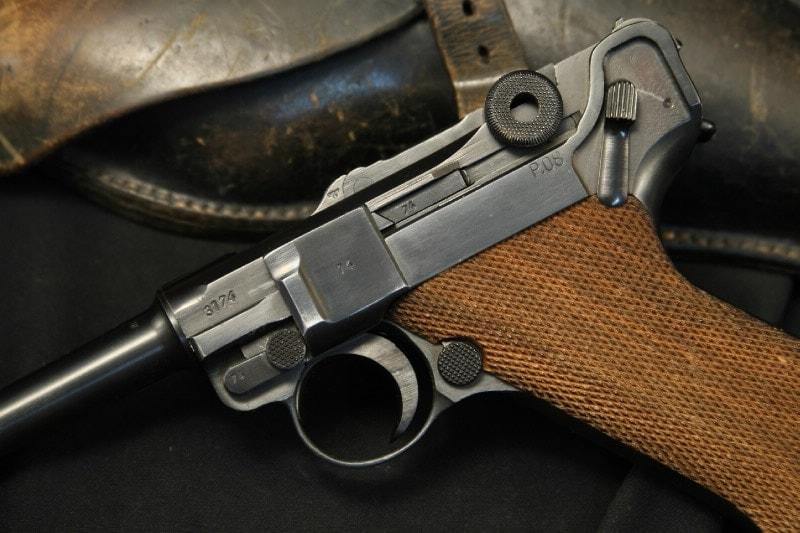 The controls on the Mauser P08. (Photo credit: Gun Auction)