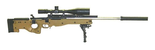 Mk. 13 MOD 5 sniper rifle.