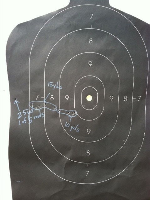 Occluded precision fire at 25 yards