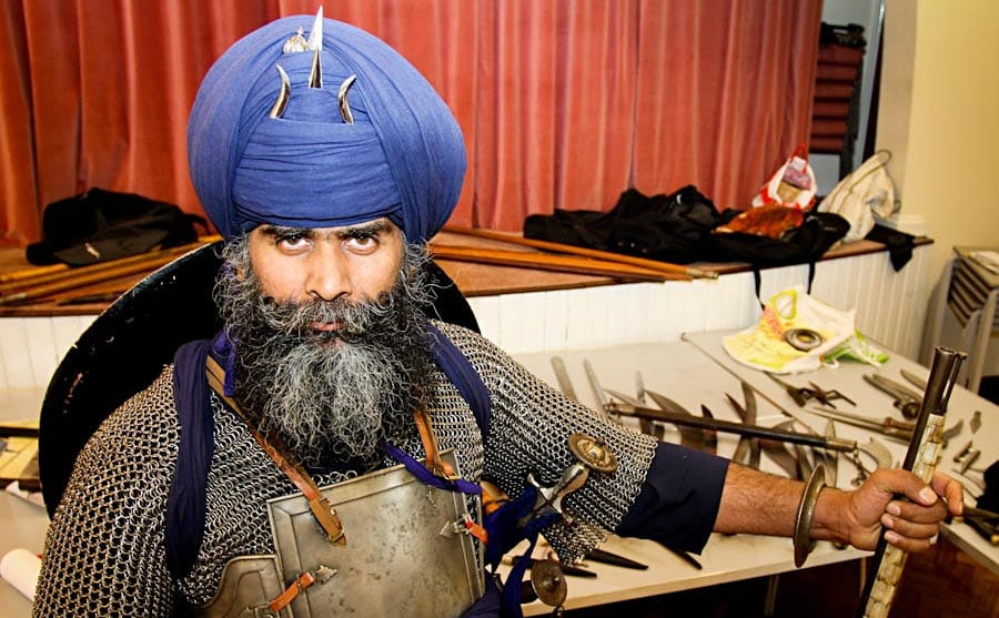 a sikh and his gun
