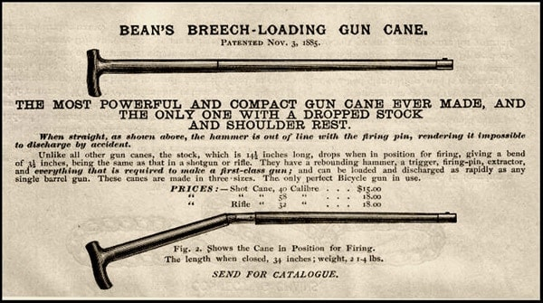 Bean can gun advertisement