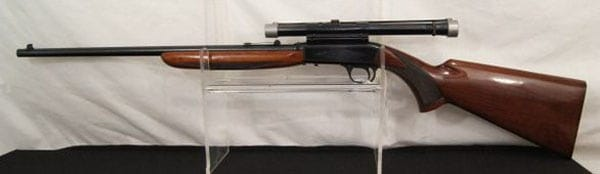 browning auto rifle displayed at auction