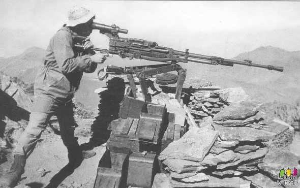Dushka re-purposed as a long range sniper system