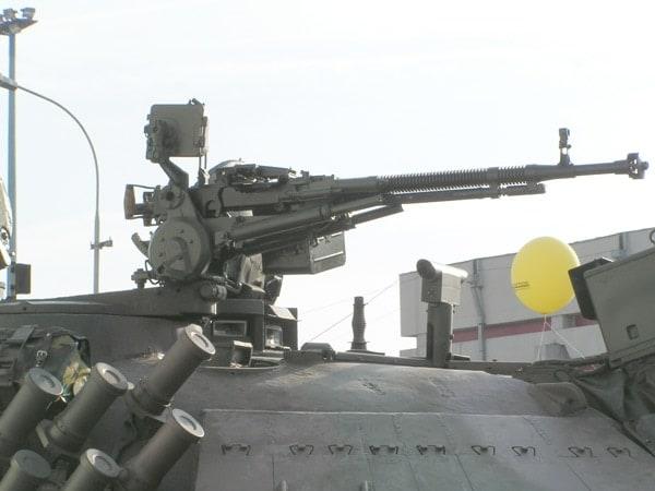 Dushka mounted on tank
