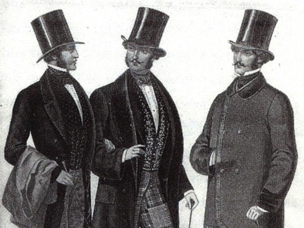 Gentlemen with canes.