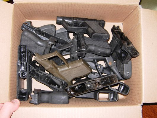 Box of Grendel polymer pistols
