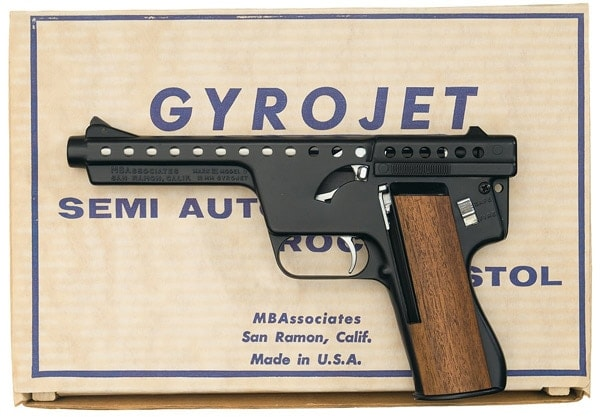 Gyrojet pistol with box