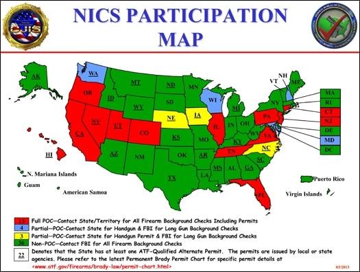 NICS Participation Map