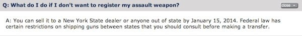 NY SAFE Act: Question on 'Assault' Weapons Registration