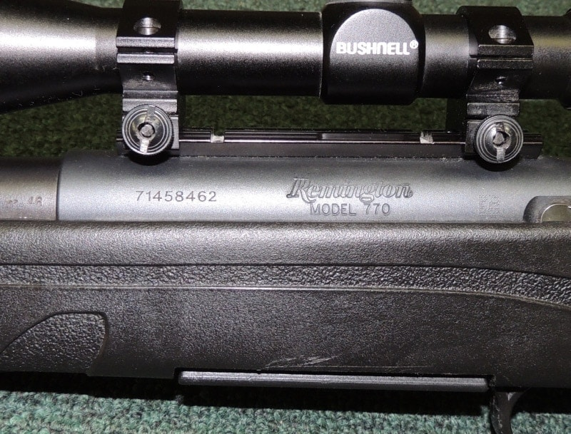 Remington 770 pre-mounted Bushnell scope