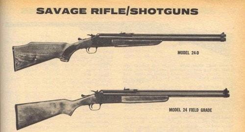 Savage Model 24: Rfile over shotgun - Guns com