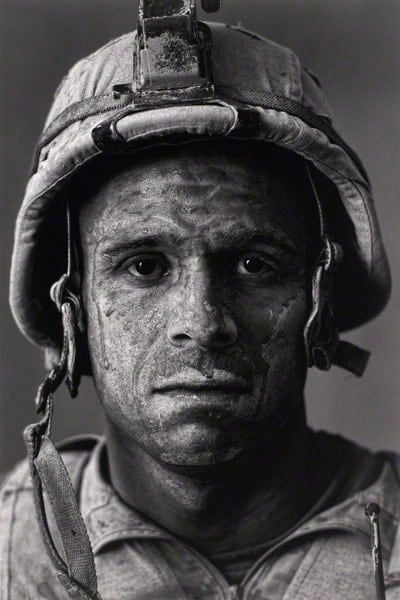 "U.S. Marine Gysgt. Carlos  ""OJ""  Orjuela, age 31, Garmsir District, Helmand Province, Afghanistan, from Project: Home Front 2008 Photographer: Louie Palu, Canadian, born 1968"