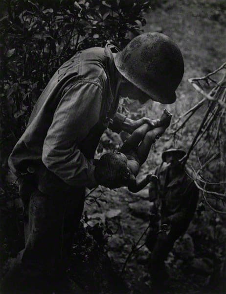 Dying Infant Found by American Soldiers in Saipan, June 1944 Photographer: W. Eugene Smith, American, 1918-1978