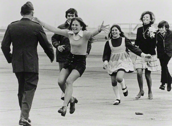 Burst of Joy, Travis Air Force Base, California, March 17, 1973 Photographer: Sal Veder, American, born 1926