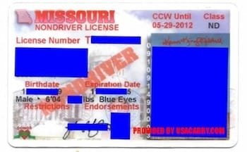 Sample Missouri ID (Credit: US Carry.com)