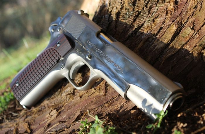 The ETC grips on a Colt 1911