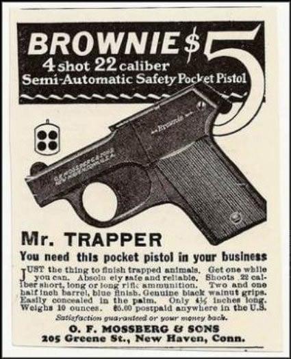 Mossberg Brownie advertisement 1926