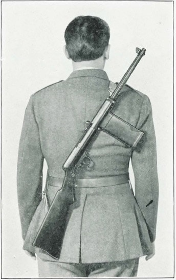 Smith & Wesson Light rifle in field carry position on soldier