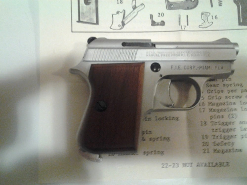 GT 27 Tanfoglio sitting on top of manual