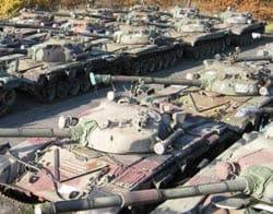 Mothballed T-72s